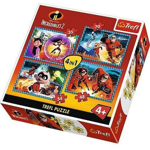Puzzle 4w1 Iniemamocni 2, Niesamowita rodzinka - DARMOWA DOSTAWA OD 199 ZŁ!!! (5900511343069)