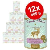 Terra canis bez zbóż, 12 x 400 g - indyk z dynią, selerem i rukwią wodną (4260109620486)