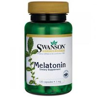 Swanson Melatonina - 1000mcg (1mg) - (120 kap) (0087614015422)