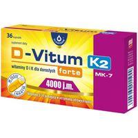 Kapsułki D-Vitum forte witamina D i K dla dorosłych D3 4000 j.m. naturalna K2 MK-7 100 mcg 36 kapsułek Oleofarm