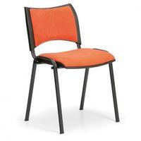 Krzesła konferencyjne smart - czarne nogi, bez podłokietników, pomarańczowy marki B2b partner