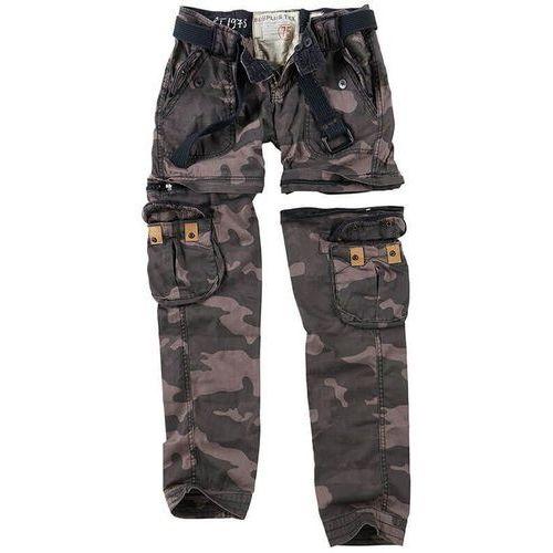 Surplus Spodnie Damskie Bojówki Trekking Premium 2w1 Black Camo - Black Camo