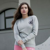 GymBeam Damska bluza dresowa The Best Version Grey