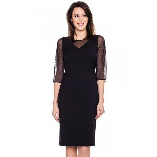 d3a8c8c66a Czarna sukienka z siateczką - EMOI