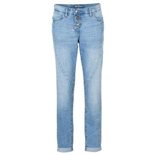 Dżinsy ze stretchem Boyfriend bonprix niebieski, jeansy