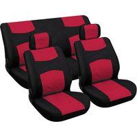 pokrowce na siedzenia - czerwone/czarne marki Carpoint