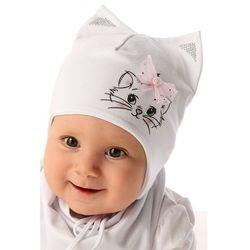 Czapka niemowlęca wiązana 5x34ao marki Marika