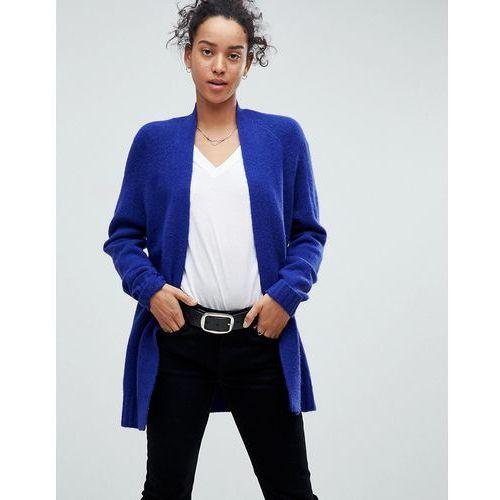 Cardigan in wool mix - blue Asos