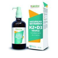 Witamina K2 MK-7 z natto + D3 krople (MyVita) 20ml (5906395684502)