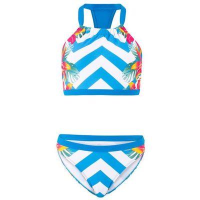 a03c735ad17dd9 Bikini z biustonoszem bustier (2 części) niebiesko-biały z nadrukiem,  Bonprix, S-XXXXL bonprix