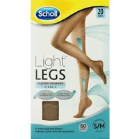 light legs m rajstopy uciskowe cienkie 20 den cieliste marki Scholl