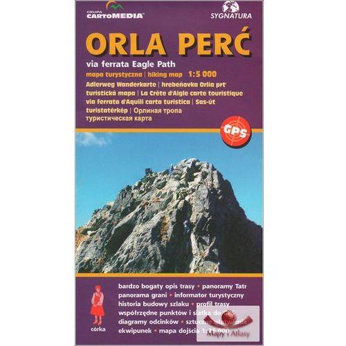 Orla Perć via ferrata Mapa turystyczna 1:5 000, CartoMedia