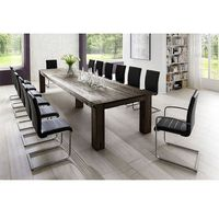 YORK stół dębowy bielony - 400 x 120cm