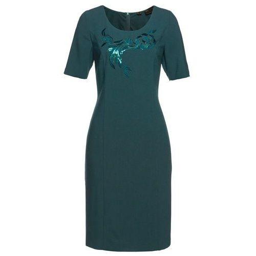 Sukienka shirtowa z wywijanymi rękawami bonprix niebieski nocny, kolor niebieski
