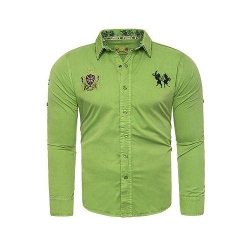 a97f486b9a3c Risardi Koszula męska xh2205 - zielony - emodi.pl moda i styl
