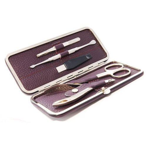 Solingen - hardenburg Vermont nappa violet - 5-częściowy, oryginalny zestaw do manicure, solingen-hardenburg