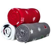 Trixie koc świąteczny z polaru 150 × 100 cm kolor: czerwony/szary/biały 924682 (4053032988040)