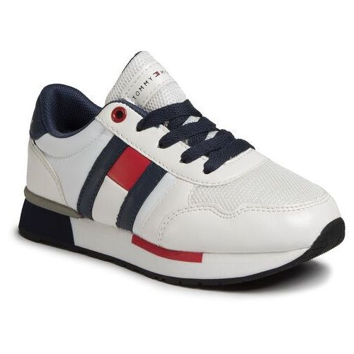 Sneakersy - low cut lace-up sneaker t3b4-30483-0733x336 m white/blue x336 marki Tommy hilfiger