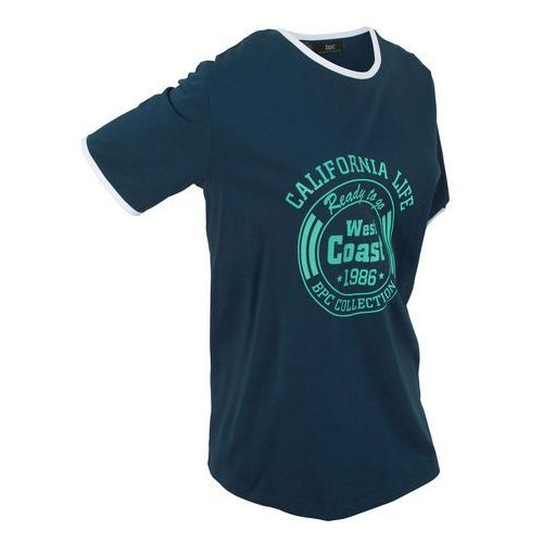 T-shirt sportowy bawełniany, krótki rękaw bonprix ciemnoniebieski, w 2 rozmiarach