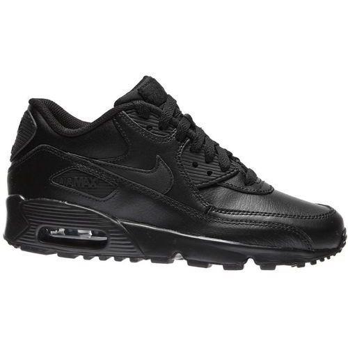 Damskie Nike Air Max90 833412-001 całe czarne / skóra, 833412-001