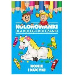 Kolorowanki dla kolegi i koleżanki Konie i kucyki + zakładka do książki GRATIS