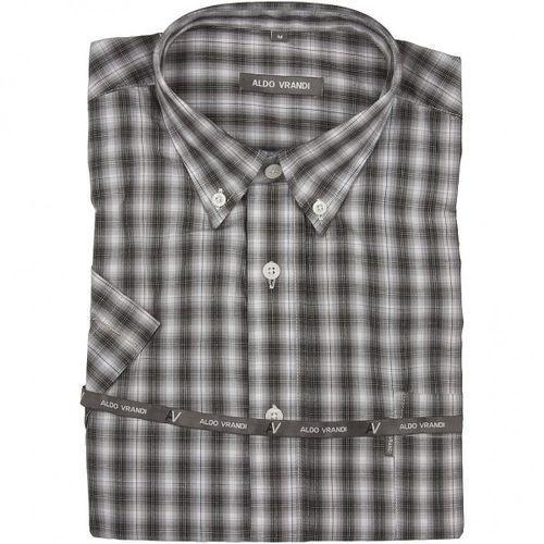 Koszula męska Aldo Vrandi z krótkim rękawem, kolor szary