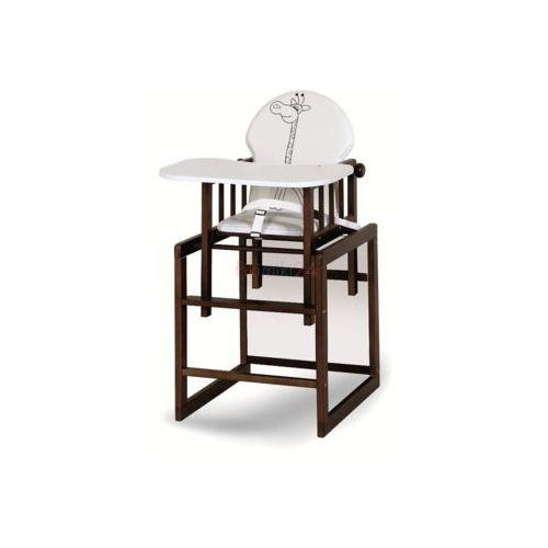 krzesełko agnieszka iii safari żyrafka biały orzech marki Klupś
