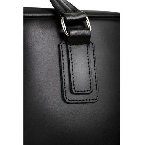 Elegancka męska teczka na laptop czarna / czerwona wyściółka marki Brodrene