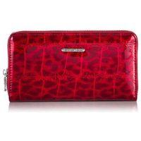 Skórzany portfel damski jennifer jones 5247 czerwony croco