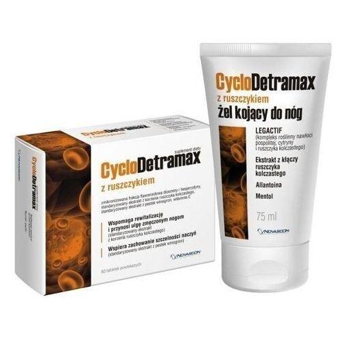 Cyclodetramax z ruszczykiem x 60 tabletek + cyclodetramax żel 75ml Novascon pharmaceuticals - Genialna przecena