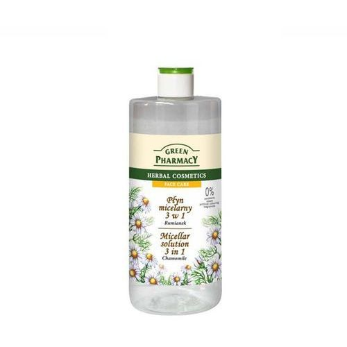 Face care chamomile woda micelarna 3 w 1 (0% parabens, soaps, artificial colouring, fragrances) 500 ml Green pharmacy