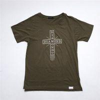 koszulka DIAMOND - Skate Life Cross Tee Military Green (MGRN)