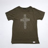 koszulka DIAMOND - Skate Life Cross Tee Military Green (MGRN) rozmiar: L
