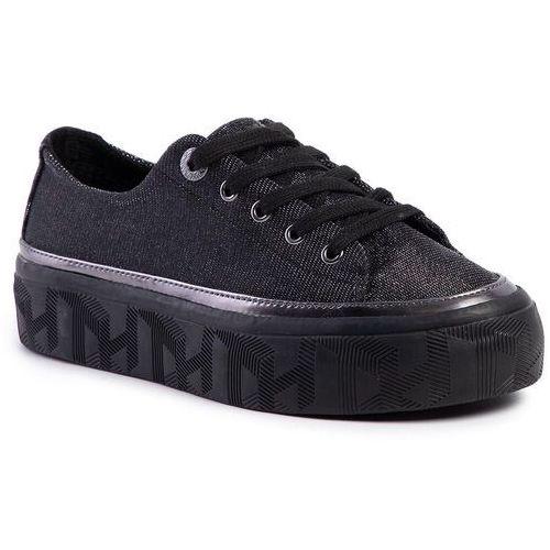 Tommy hilfiger Sneakersy - tommy sparkle flatform sneaker gunemetal 0gq