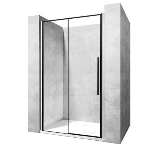 Drzwi prysznicowe szerokość 120 cm czarne profile Solar Rea UZYSKAJ 5 % RABATU NA DRZWI (5902557333035)