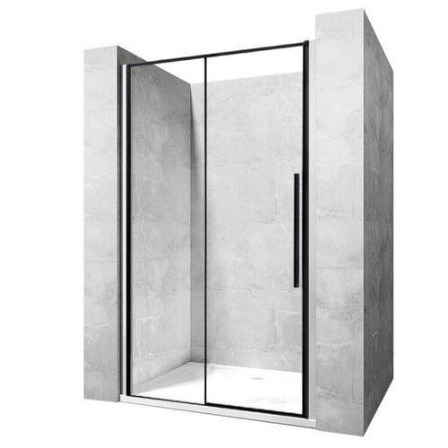 Rea Drzwi prysznicowe szerokość 120 cm czarne profile solar