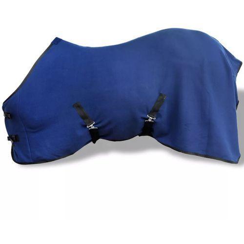 vidaXL Polarowa derka z zapięciami, 125 cm, niebieska