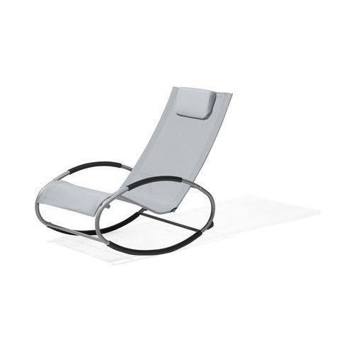 Krzesło ogrodowe drewniane białe poducha beżowa BALTIC