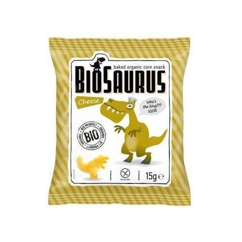 Chrupki kukurydziane o smaku serowym BEZGL. BIO 15 g BioSaurus - Cibi - Najtaniej w sieci
