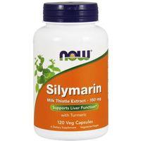 Kapsułki Now Foods Silymarin (Ekstrakt z ostropestu + Kurkuma) 150mg 120 kaps.