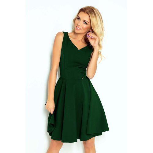 f33e052f4e1fb2 Zielona Sukienka Elegancka Rozkloszowana na Szerokich Ramiączkach, w ...