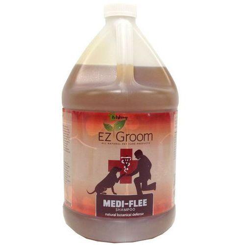 Ez-groom - medi-flee shampoo - szampon odstraszający oraz kojący podrażnienia spowodowane przez pchły i kleszcze, 3,8 l