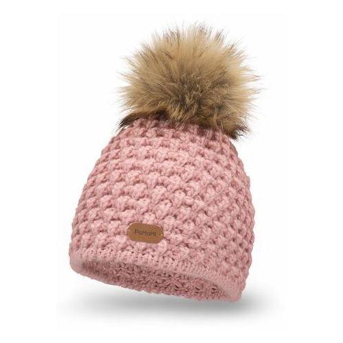 Zimowa czapka damska - pudrowy róż marki Pamami