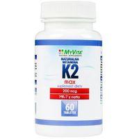 Tabletki Witamina K2 MK-7 MAX z natto 200mcg (MyVita) 60 tabl.