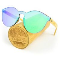 Drewniane okulary przeciwsłoneczne Niwatch Cassiopeia Green Mirror