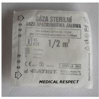 Gaza jałowa opatrunkowa 100% bawełny 0,5m2, 16-11-12