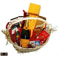 Kosz delikatesowy lindt prezentuje + szampan marki Smacza jama