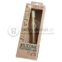 Jack n'jill Jack-n-jill silicone toothbrush 1szt. - delikatna silikonowa szczoteczka do zębów z blokadą, 1-3 lata