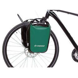 Crosso Co1010.30.86 sakwy rowerowe dry small 30l zielone zestaw na tył / przód