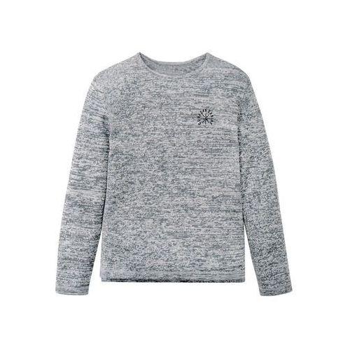 2ca41750d987d9 Zobacz ofertę Sweter melanżowy Slim Fit bonprix antracytowo-biel wełny  melanż